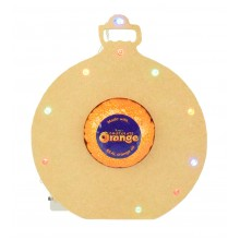 18mm Freestanding Christmas Bauble Terry's Chocolate Orange Holder with LED Lights